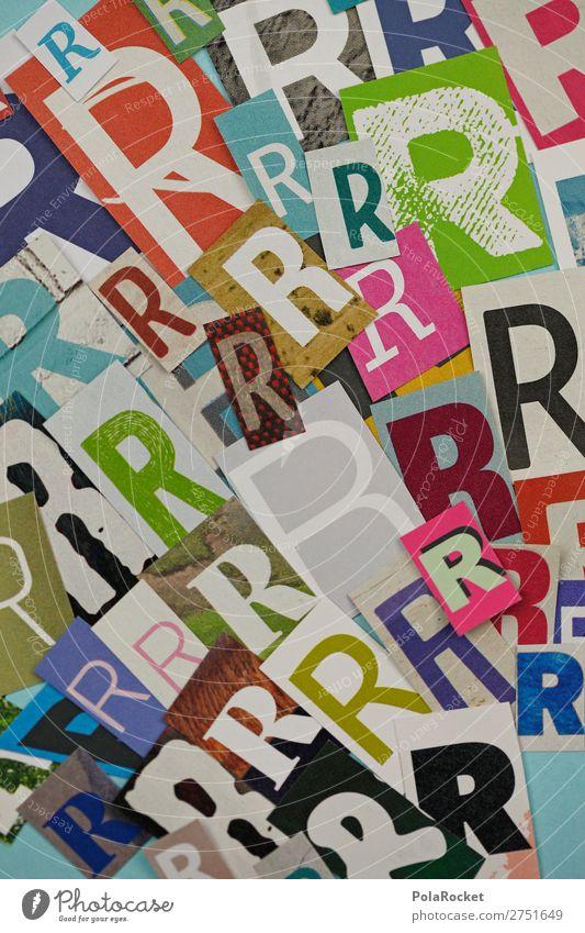 #A# RRRRR Kunst Kunstwerk ästhetisch Buchstaben Buchstabensuppe viele Typographie Schriftzeichen Telekommunikation Sprache Farbfoto mehrfarbig Innenaufnahme