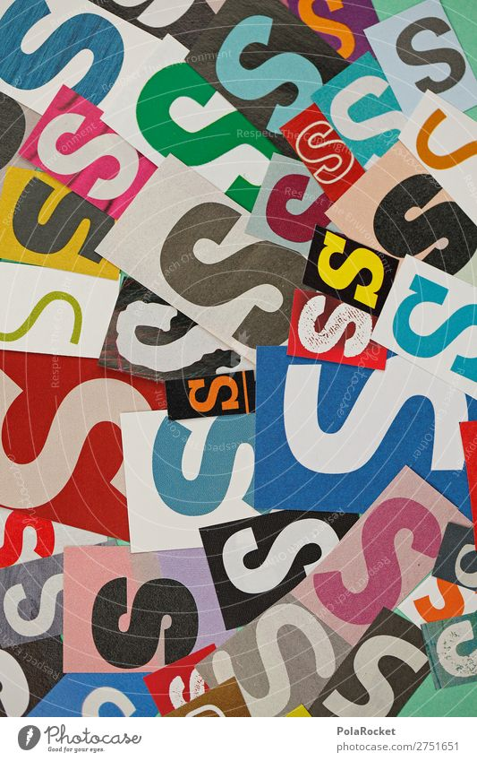 #A# SSSSS Kunst Kunstwerk ästhetisch Buchstaben Buchstabensuppe viele Typographie Schriftzeichen Design Farbfoto mehrfarbig Innenaufnahme Studioaufnahme