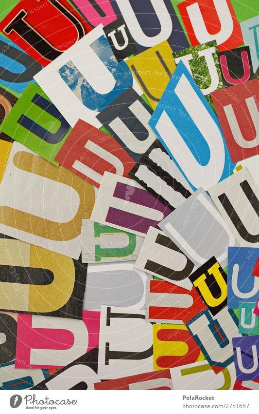 #A# UUUUU Kunst Kunstwerk ästhetisch gestalten Design illustrieren Kreativität viele Buchstaben Buchstabensuppe Typographie Farbfoto mehrfarbig Innenaufnahme