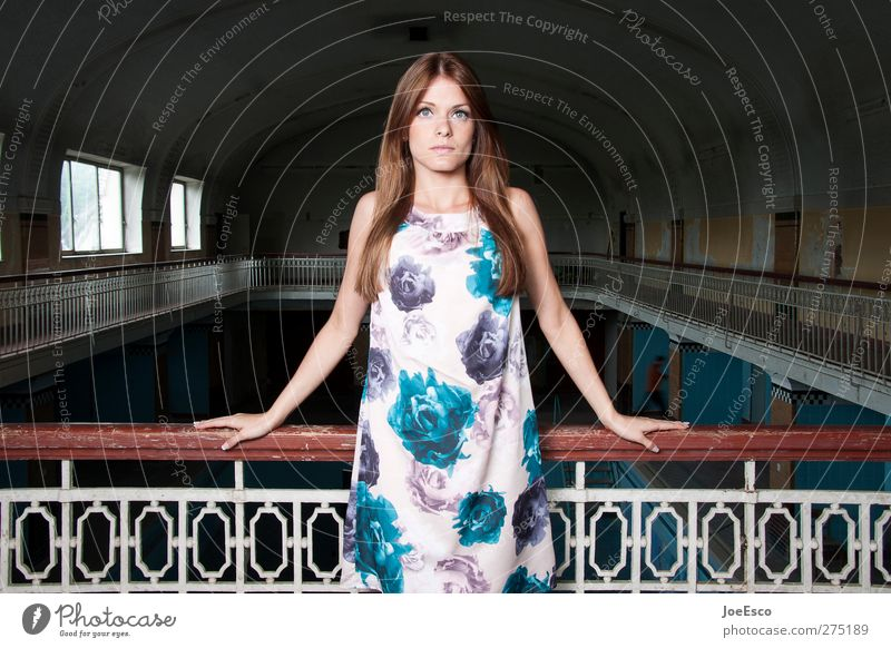 #234461 elegant Stil Frau Erwachsene Leben Mensch Mode Kleid brünett langhaarig beobachten Erholung festhalten Blick Coolness trendy schön einzigartig Gefühle