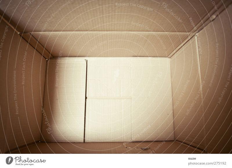 Papparazzia leer Ecke einfach Güterverkehr & Logistik Umzug (Wohnungswechsel) Karton Kiste eckig Anschnitt Verpackung Paket packen Inhalt umweltfreundlich