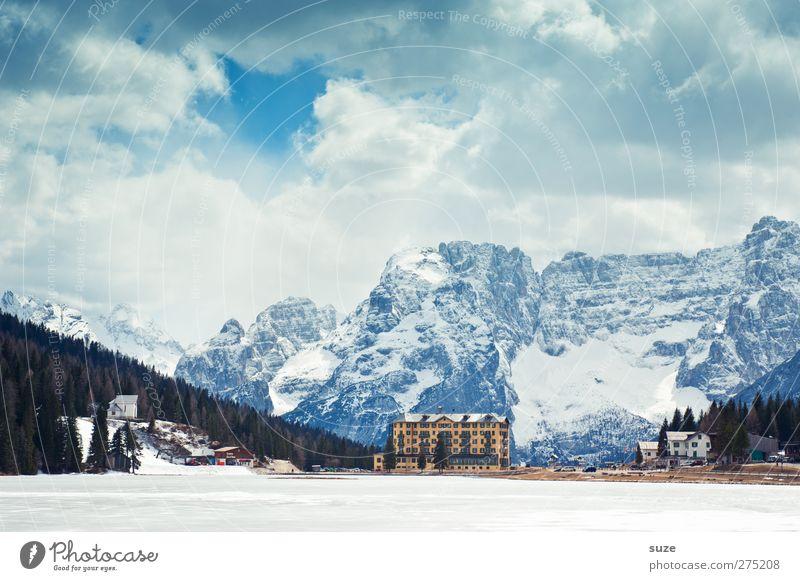 Misurina See Ferien & Urlaub & Reisen Tourismus Ausflug Berge u. Gebirge wandern Umwelt Natur Landschaft Himmel Wolken Schönes Wetter Eis Frost Wald Felsen