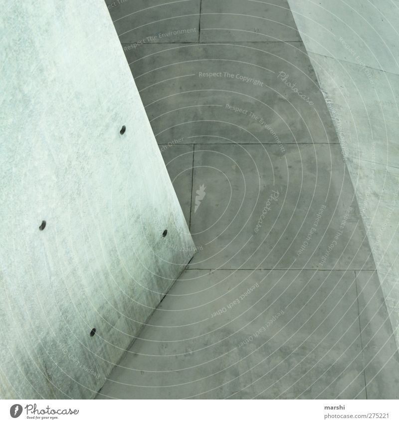 beton(t) Wand Architektur grau Mauer Linie Hintergrundbild Fassade Beton Ecke Textfreiraum Bildausschnitt Geometrie Bodenplatten Betonplatte Grauwert Betonwand