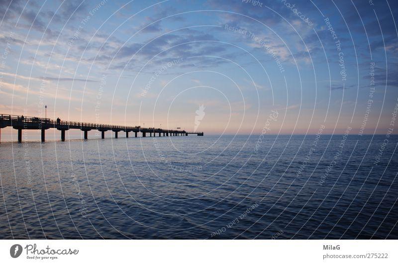 Ins Blaue Himmel Ferien & Urlaub & Reisen blau Meer Landschaft Ferne Küste Freiheit Stimmung Horizont träumen nachdenklich Hoffnung Ostsee Glaube Gelassenheit
