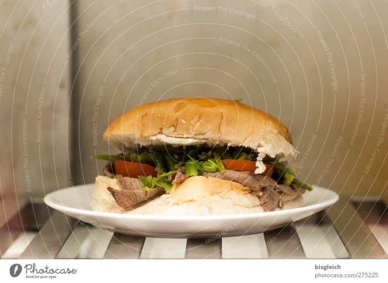 Junk Food grau braun Ernährung Lebensmittel Hamburg Übergewicht Teller Fastfood