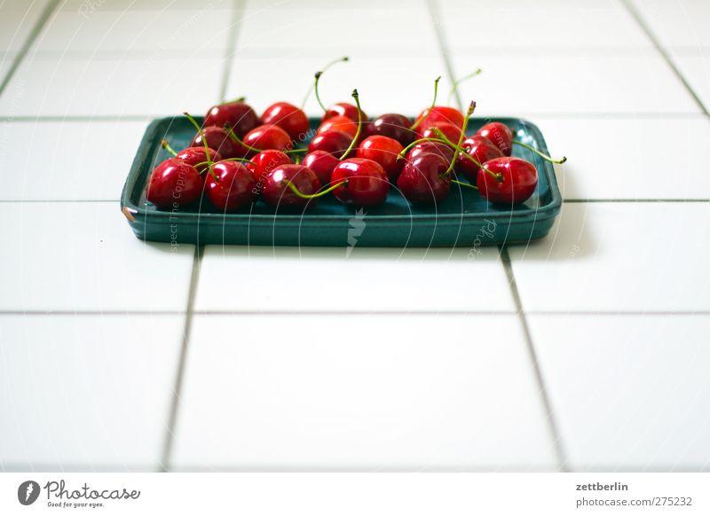 Kirschen Sommer Frucht Lebensmittel frisch Ernährung Ernte Geschirr Bioprodukte Festessen Picknick Schalen & Schüsseln Vitamin füttern Kirsche Optimismus Büffet