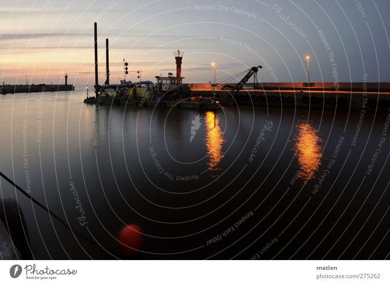 swinging buoy blau Wasser rot Meer ruhig Umwelt Landschaft Küste Metall braun Wasserfahrzeug Wetter Beton leuchten Seil Hafen
