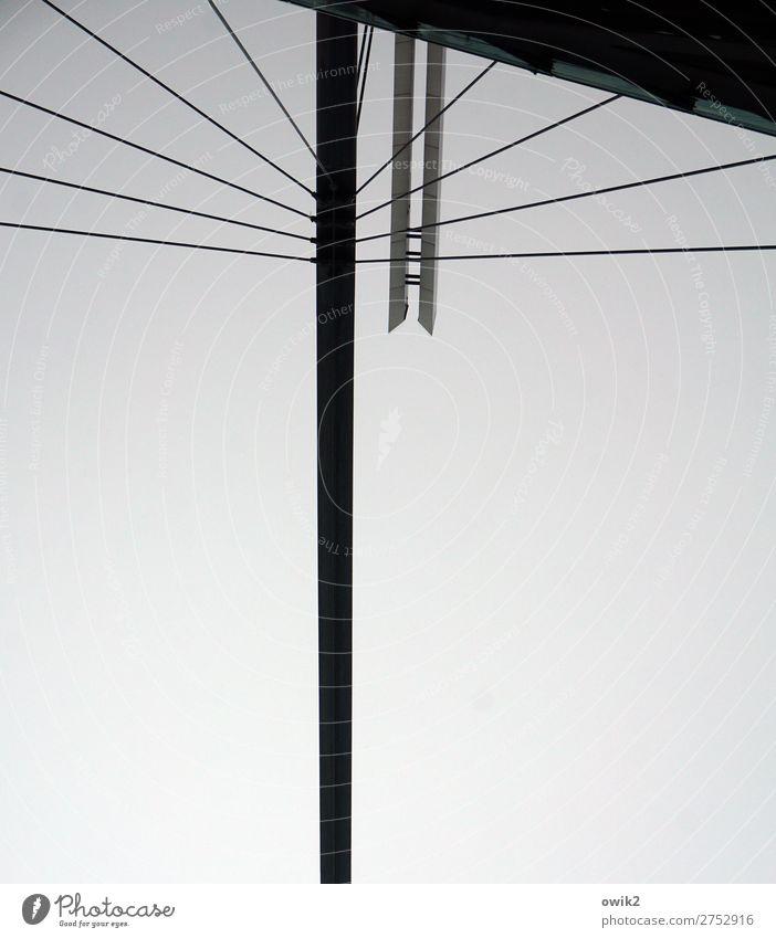 Dresden steht kopf Himmel Deutschland Stadt Stadtzentrum Bauwerk Architektur Konstruktion Säule Drahtseil fest Metall Kunststoff stehen frei groß oben verkehrt