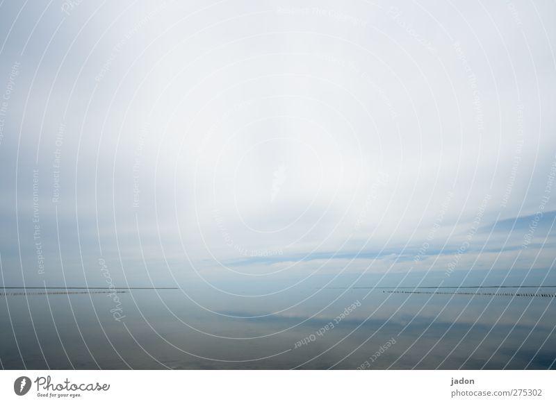 himmel und meer. Landschaft Urelemente Wasser Himmel Wolken Schönes Wetter Nordsee Meer außergewöhnlich Unendlichkeit hell blau Sehnsucht Fernweh Freiheit