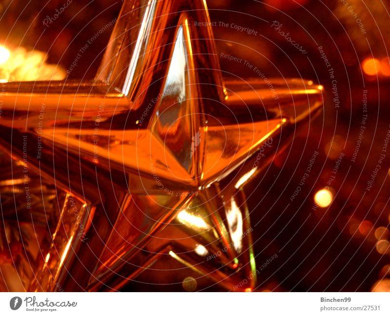 SternStunden Weihnachten & Advent gold glänzend Stern (Symbol) Weihnachtsdekoration festlich