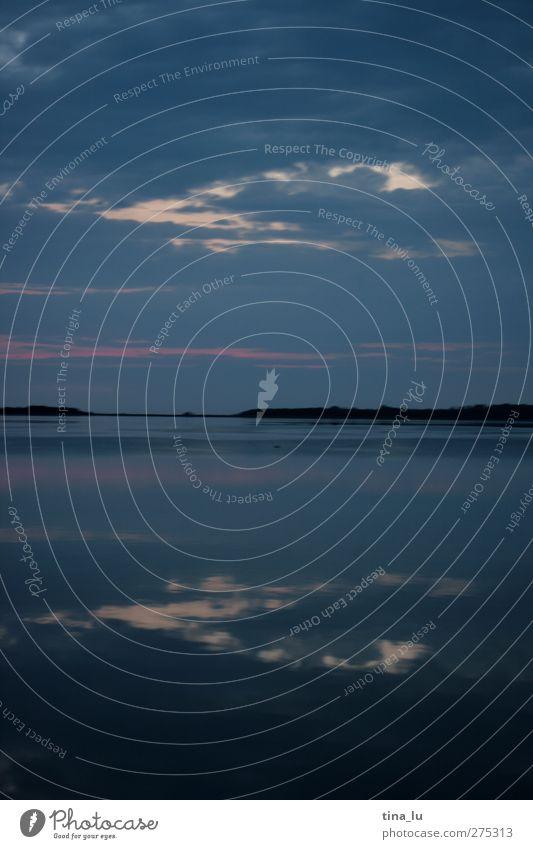 unten und oben Himmel blau Wasser weiß schön Meer Strand Wolken schwarz Umwelt kalt Leben Wärme Luft Horizont