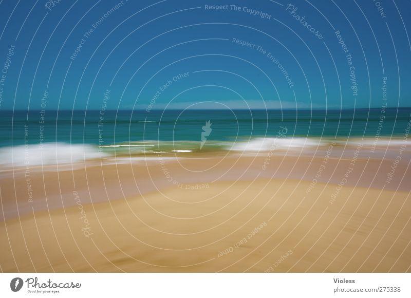 sommer sonne strand Sommer Sonne Meer Freude Erholung Wellen Schönes Wetter Kitsch