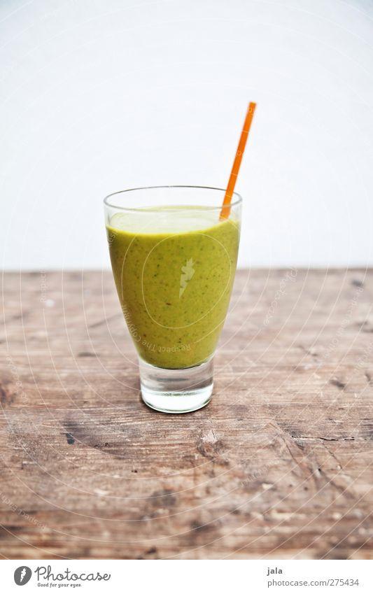 grünes monster grün Gesunde Ernährung natürlich Gesundheit Lebensmittel Frucht Glas Ernährung Gemüse Appetit & Hunger Bioprodukte Vitamin Vegetarische Ernährung Holztisch Saft Trinkhalm
