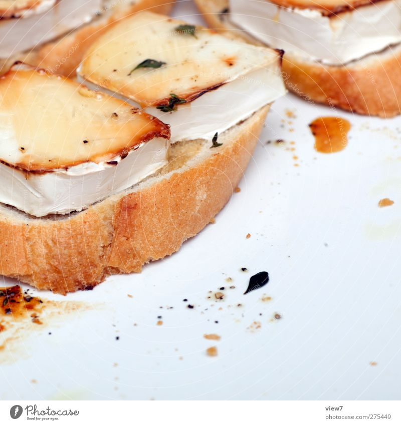 Essen in Frankreich Lebensmittel Beginn frisch Ernährung einfach heiß Kräuter & Gewürze Lebensfreude Frühstück Brot Teller Mahlzeit Inspiration Backwaren Käse