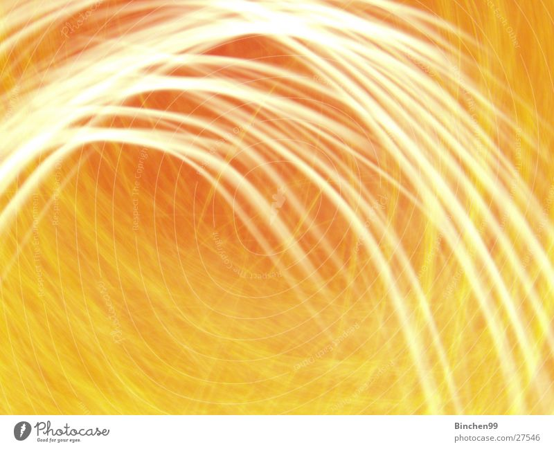 Gelb/Orange 3 gelb Wellen Hintergrundbild Faser Licht Langzeitbelichtung Linie