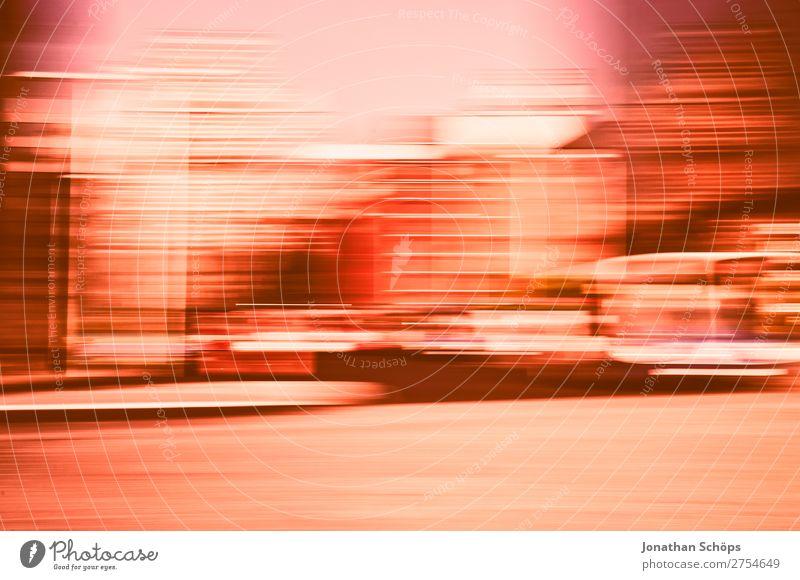 Stadtansicht mit Bewegungsunschärfe Hintergrundbild rosa Geschwindigkeit England Korallen Farbkarte