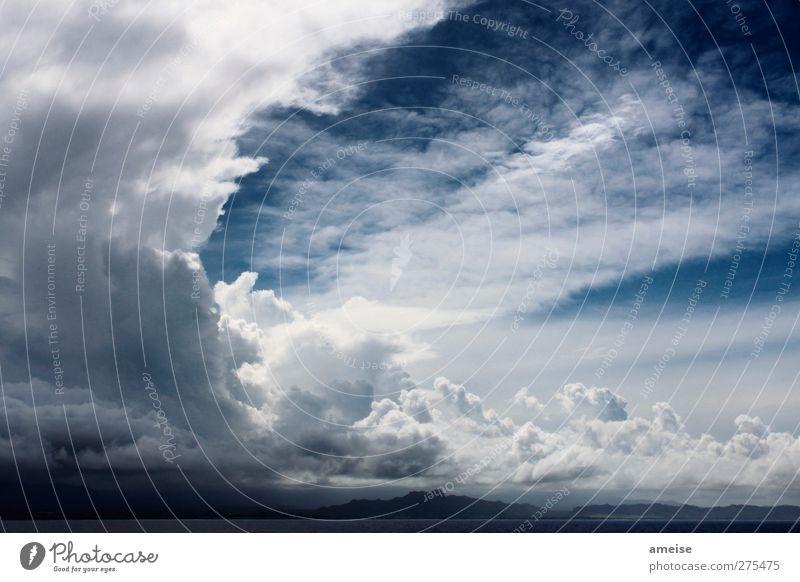 Der Himmel über Kauai Sommerurlaub Meer Insel Luft Wolken Horizont Wetter Wind Pazifischer Ozean Hawaii Glück Fröhlichkeit Lebensfreude ruhig Natur