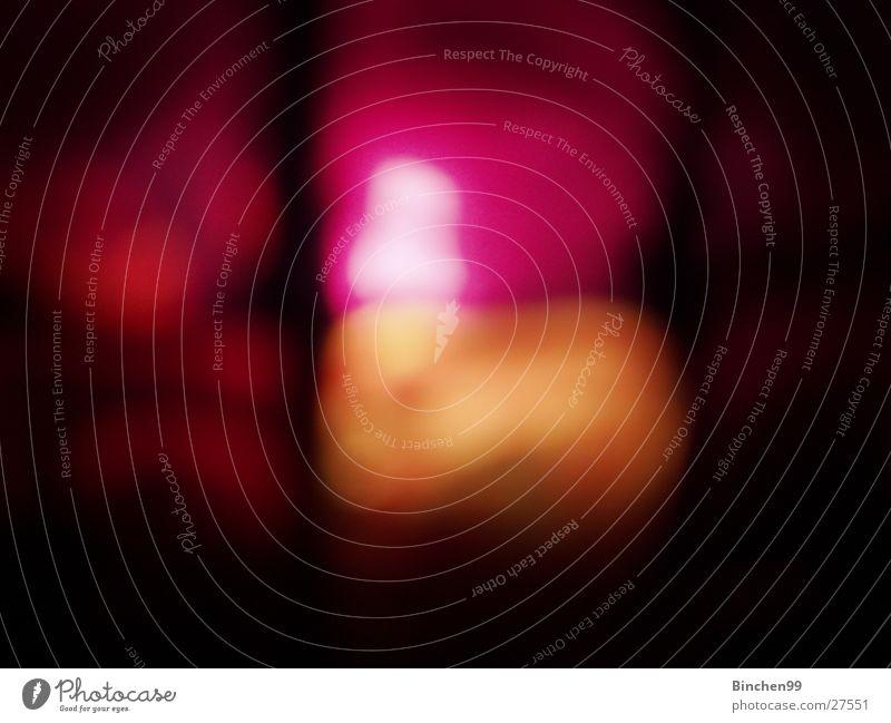 Namenlos rosa schwarz Licht Kerze Makroaufnahme Nahaufnahme Schatten orange Farbe