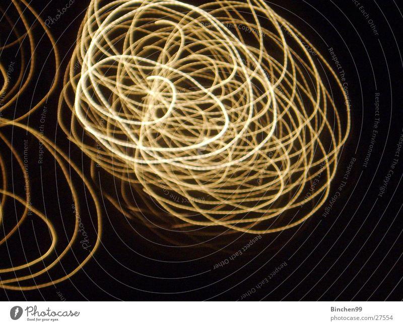 Lustige Lichter No2 weiß schwarz gelb Hintergrundbild Kreis durcheinander Schlaufe