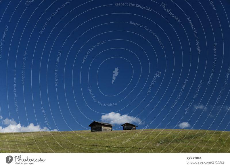 IHR ZWEI Himmel Natur Ferien & Urlaub & Reisen Sommer Einsamkeit ruhig Erholung Landschaft Ferne Umwelt Wiese Berge u. Gebirge Freiheit träumen Horizont wandern