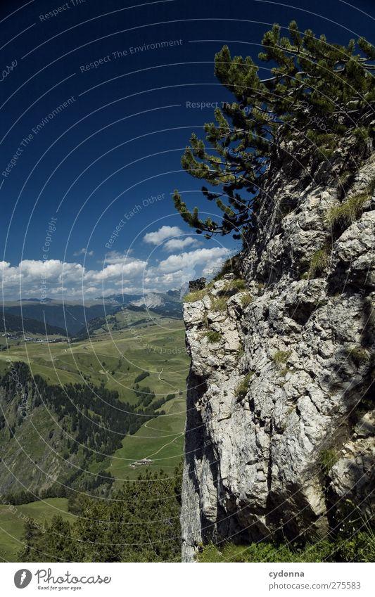 Auf und ab Himmel Natur Ferien & Urlaub & Reisen Sommer Einsamkeit ruhig Erholung Landschaft Ferne Umwelt Berge u. Gebirge Wege & Pfade Freiheit träumen
