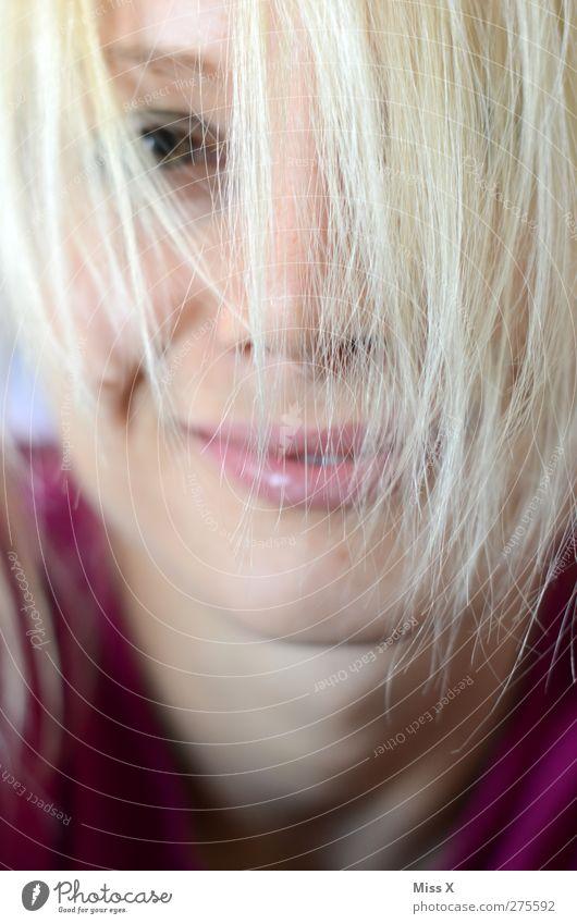 ces Mensch feminin Junge Frau Jugendliche Haare & Frisuren 1 18-30 Jahre Erwachsene blond Pony Lächeln lachen schön Gefühle Freude Glück Fröhlichkeit