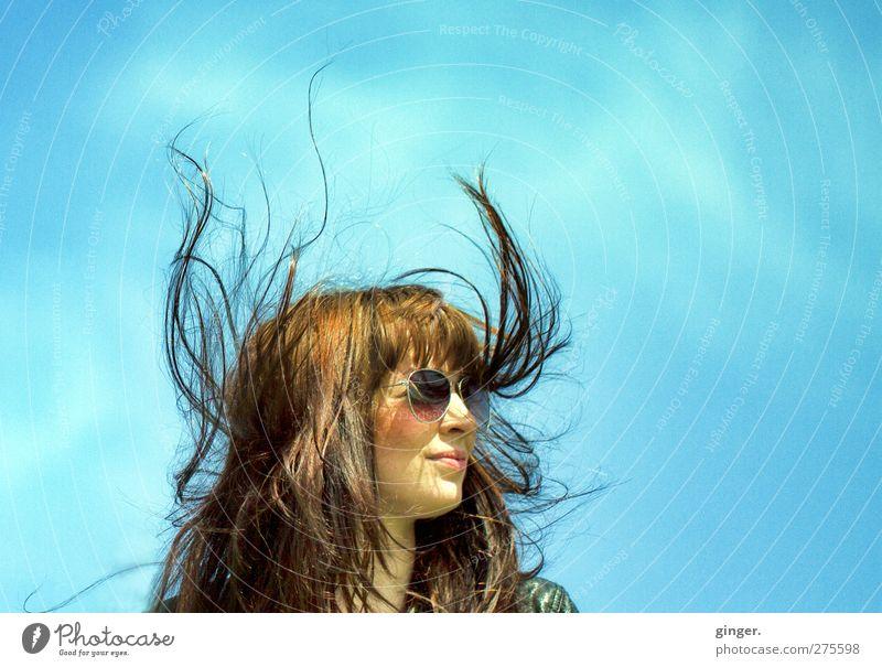 Hiddensee | Engelchen und Teufelchen Mensch Himmel Jugendliche schön Erwachsene Gesicht feminin Leben Haare & Frisuren Junge Frau Kopf lustig außergewöhnlich 18-30 Jahre hoch frisch