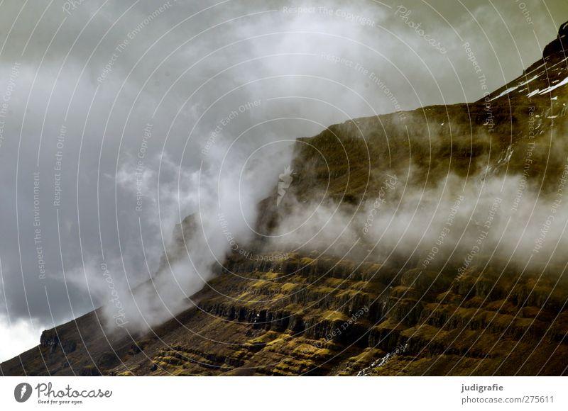 Island Himmel Natur Wolken Landschaft Umwelt dunkel kalt Berge u. Gebirge Stimmung Felsen außergewöhnlich Klima natürlich wild bedrohlich Island