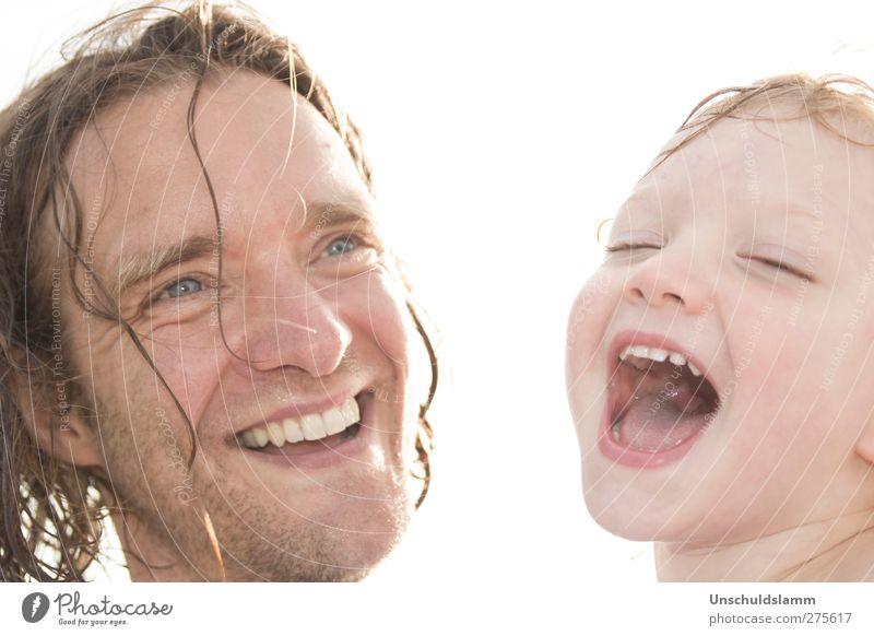 Schweine können doch nicht fliegen! Mensch Kind Mann Mädchen Freude Erwachsene Gesicht Liebe feminin Gefühle lachen Glück Kopf lustig Familie & Verwandtschaft