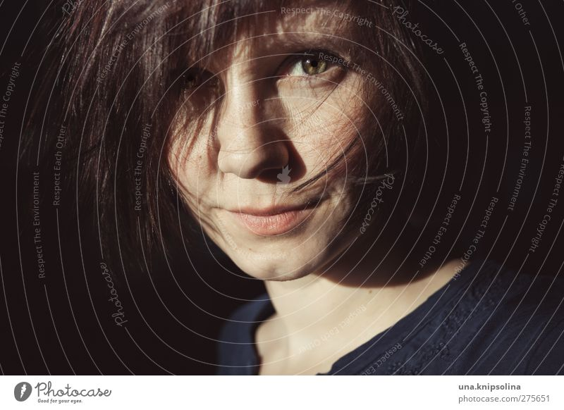 es gibt nichts, was man nicht tut feminin Junge Frau Jugendliche Erwachsene Haare & Frisuren Gesicht 1 Mensch 18-30 Jahre brünett kurzhaarig glänzend Lächeln