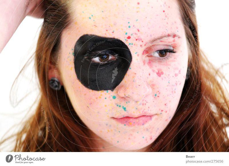 Colourblind Mensch Kind Jugendliche schön Mädchen Farbe ruhig Gesicht Erholung feminin Denken träumen hell braun Zufriedenheit modern