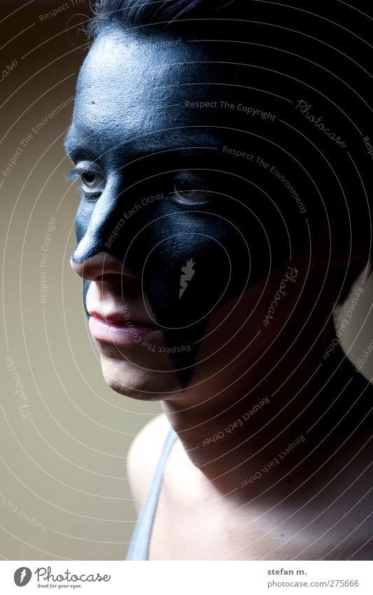 fading Mensch maskulin Gesicht 1 Kunst Bühne Schauspieler beobachten Blick verblüht dreckig dunkel dünn elegant Ferne gruselig einzigartig schön trashig schwarz
