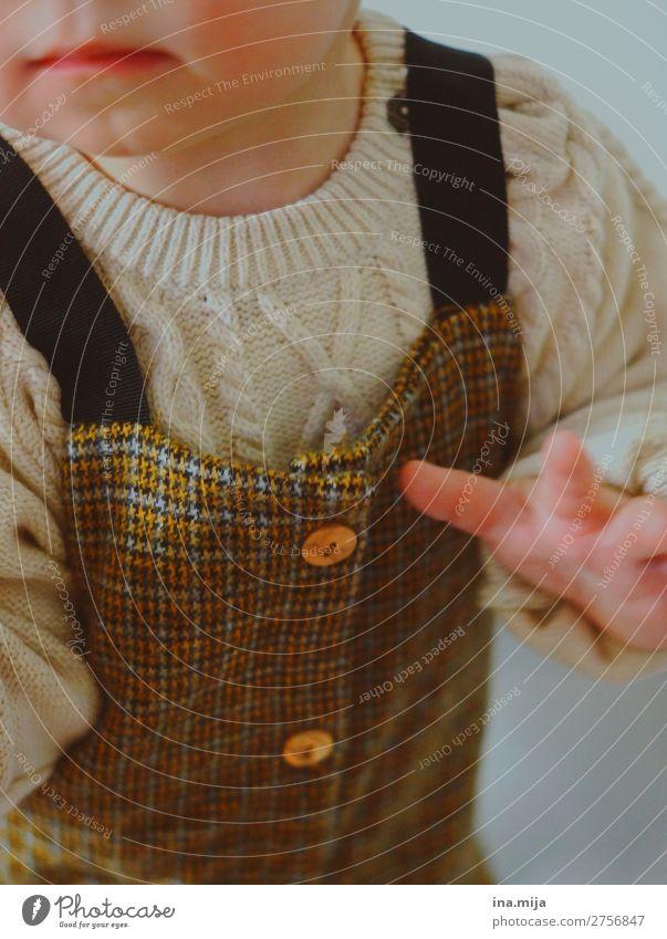 warm gekleidet Mensch Kind Baby Kleinkind Familie & Verwandtschaft Kindheit Leben 1 0-12 Monate 1-3 Jahre Mode Bekleidung Pullover Stoff Strickmuster Latzhose