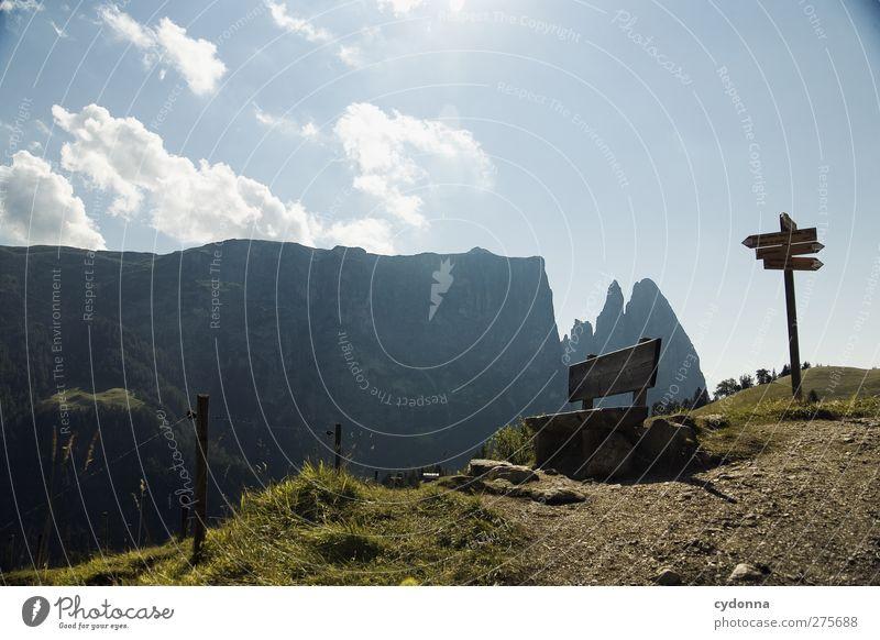 Rast Himmel Natur Ferien & Urlaub & Reisen Sommer ruhig Landschaft Ferne Umwelt Berge u. Gebirge Wege & Pfade Freiheit träumen Horizont wandern Tourismus Ausflug