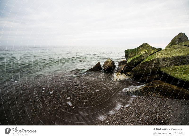 summertime sadness Himmel Natur Wasser grün Sommer Meer Wolken Landschaft Umwelt Bewegung Küste Horizont Felsen Wellen Kraft Insel