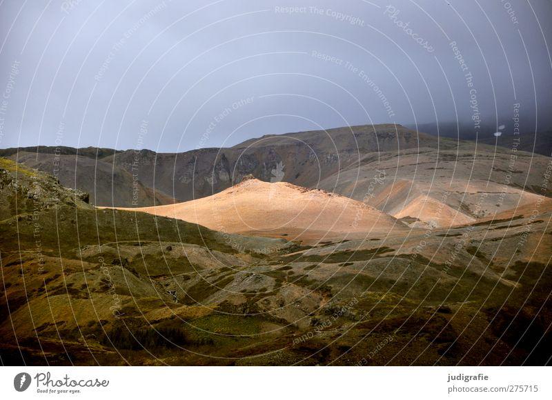 Island Himmel Natur Wolken Landschaft Umwelt dunkel Berge u. Gebirge Stimmung Felsen Erde außergewöhnlich Klima natürlich wild bedrohlich Hügel