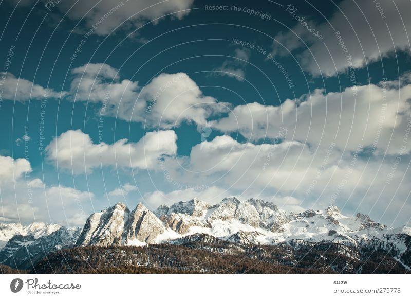 Berge und mehr Himmel Natur blau Ferien & Urlaub & Reisen Wolken Landschaft Umwelt Berge u. Gebirge Schnee Frühling Felsen außergewöhnlich Klima groß Urelemente
