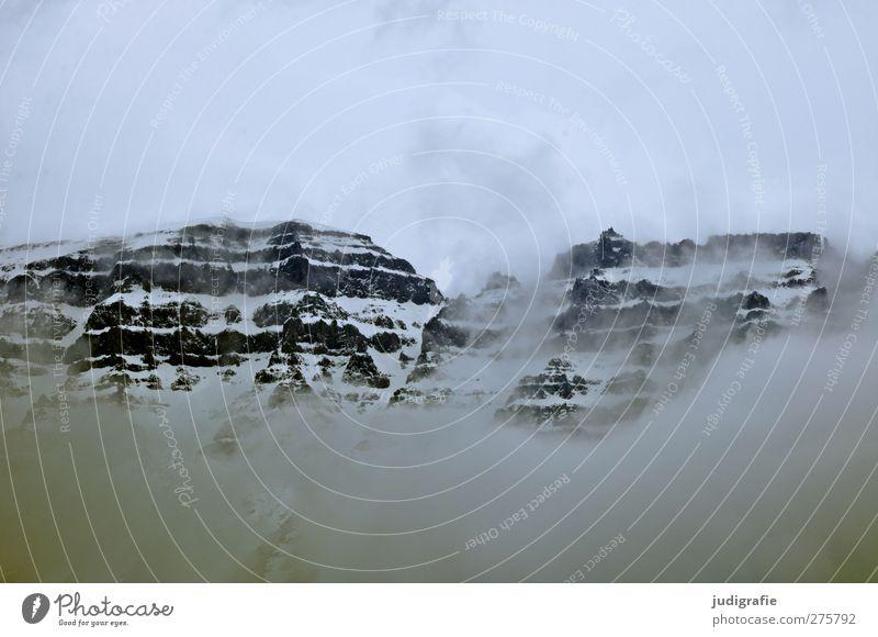 Island Himmel Natur Wolken Landschaft Umwelt dunkel kalt Berge u. Gebirge Schnee Stimmung Felsen Klima natürlich wild bedrohlich Gipfel