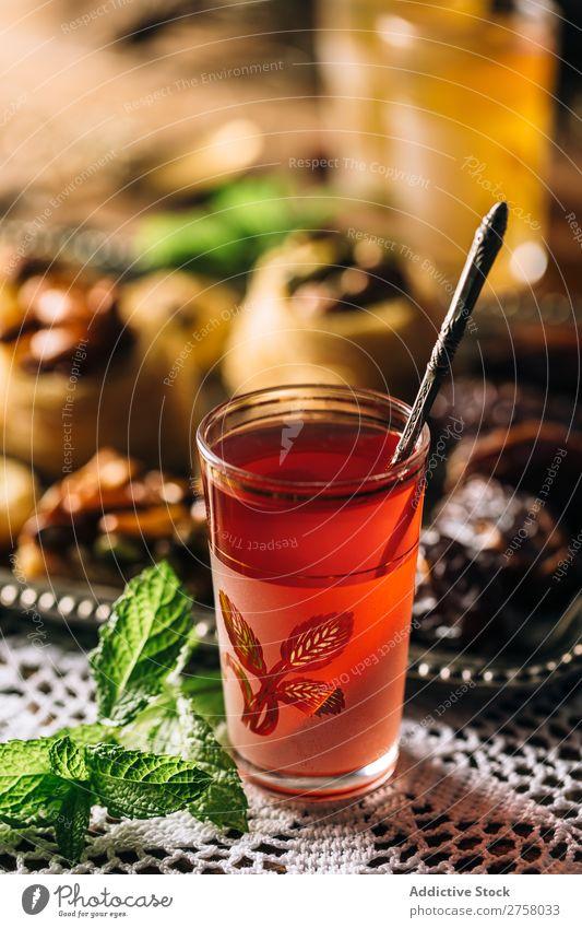 Roter arabischer Tee Nachmittag Arabien aromatisch Hintergrundbild schwarz braun Kultur trinken Osten exotisch Lebensmittel Glas Gesundheit heizen heiß Istanbul