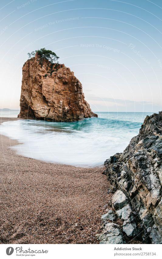 Costa Brava Strand Girona Freundschaft Nachmittag begraben blau Katalonien Klippe Küste Emporda illa roja Landschaft Mittelmeerländer Natur Menschenleer