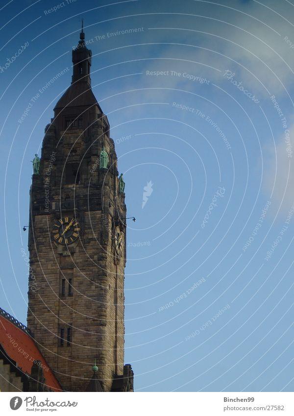 Ein Rathaus Himmel blau Wolken Berlin Gebäude Architektur Politik & Staat Charlottenburg