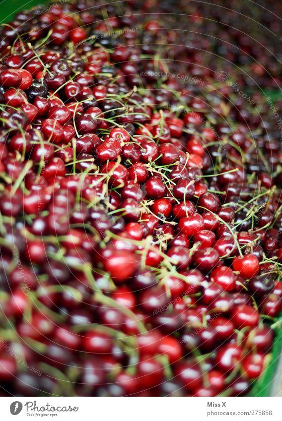 10 000 Kirschen rot Ernährung Lebensmittel klein Gesundheit Frucht frisch süß lecker Ernte Bioprodukte verkaufen Vegetarische Ernährung Wochenmarkt