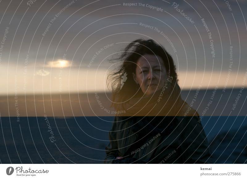 Hiddensee | Das Meer in uns Mensch feminin Frau Erwachsene Kopf Haare & Frisuren Gesicht 1 30-45 Jahre Umwelt Natur Landschaft Himmel Wolken Sonnenaufgang