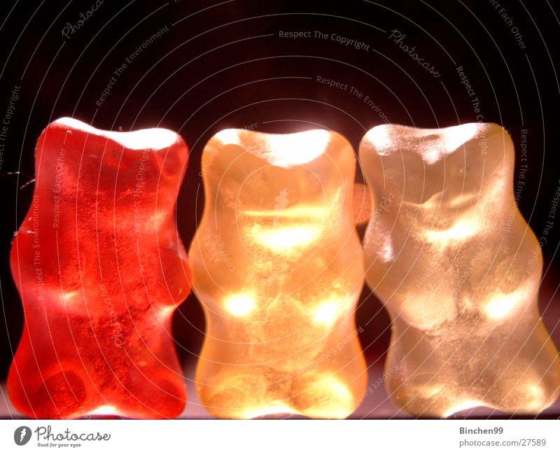 Die Drei von der Tankstelle weiß rot schwarz gelb 3 Süßwaren Bär Gummibärchen