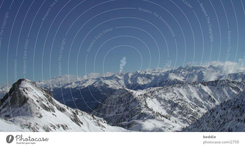 Schweiz2001 Panorama (Aussicht) Schnee Alpen Himmel Berge u. Gebirge groß Panorama (Bildformat)