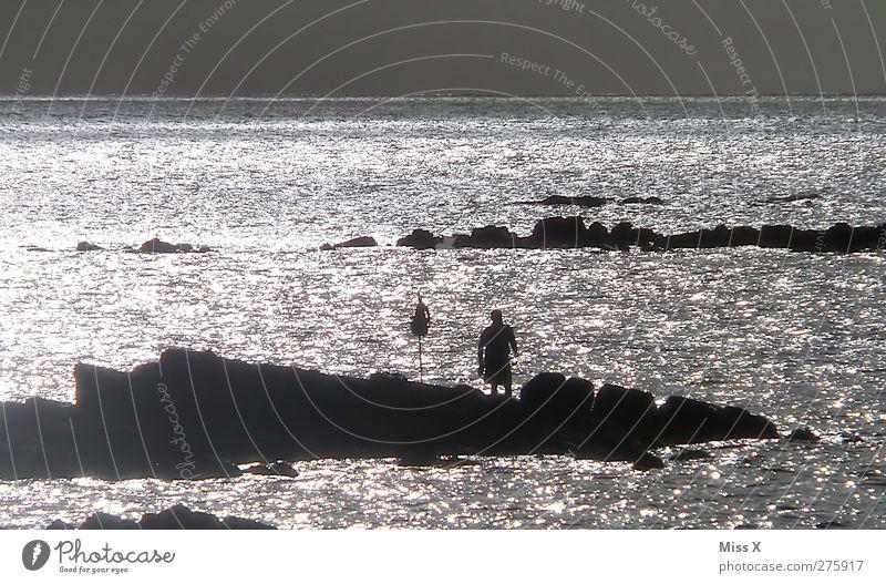 Fischen am anderen Ende der Welt Himmel Ferien & Urlaub & Reisen Sonne Meer Ferne Küste hell Wellen glänzend Tourismus Abenteuer Bucht Sommerurlaub Angeln