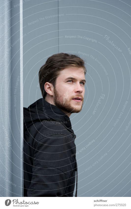 Grauschau | UT S/HD 2012 Mensch maskulin Junger Mann Jugendliche 18-30 Jahre Erwachsene Erholung Blick grau Zufriedenheit Gelassenheit Neugier Einsamkeit