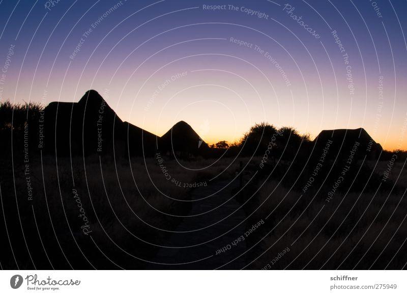 Himmelsverlauf Natur blau Ferien & Urlaub & Reisen schön schwarz Landschaft Klima Schönes Wetter Vergänglichkeit Wüste Ewigkeit violett Afrika