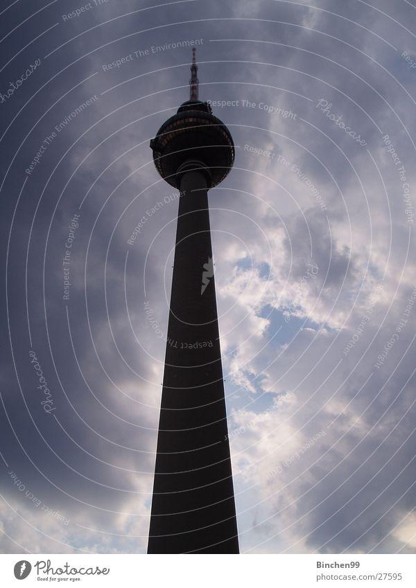 mit Sicherheit Berlin Himmel Wolken Berlin Architektur Kugel Berliner Fernsehturm