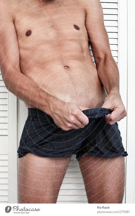 ..ich sehe was, was du nicht siehst! Körper Mensch maskulin Mann Erwachsene Brust Arme Bauch 1 18-30 Jahre Jugendliche 30-45 Jahre sportlich authentisch nackt
